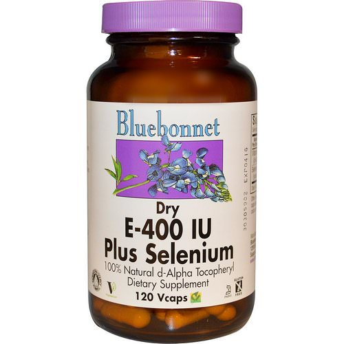 Bluebonnet Nutrition, Dry E-400 IU, Plus Selenium, 120 Vcaps Review