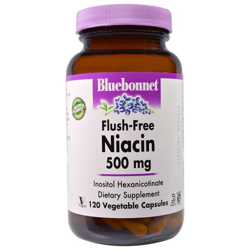 Bluebonnet Nutrition, Flush-Free Niacin, 500 mg, 120 Veggie Caps Review