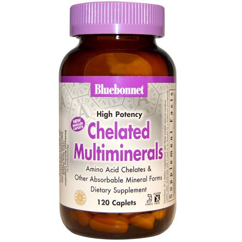 Bluebonnet Nutrition, High Potency, Chelated Multiminerals, 120 Caplets Review