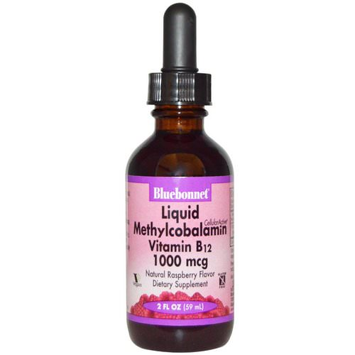 Bluebonnet Nutrition, Liquid Methylcobalamin Vitamin B12, Natural Raspberry Flavor, 1000 mcg, 2 fl oz (59 ml) Review