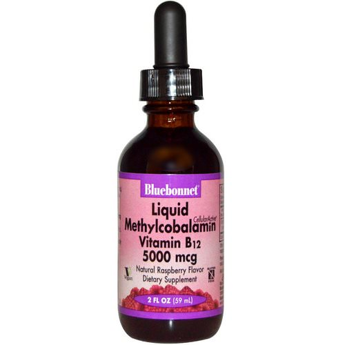 Bluebonnet Nutrition, Liquid Methylcobalamin Vitamin B12, Natural Raspberry Flavor, 5000 mcg, 2 fl oz (59 ml) Review