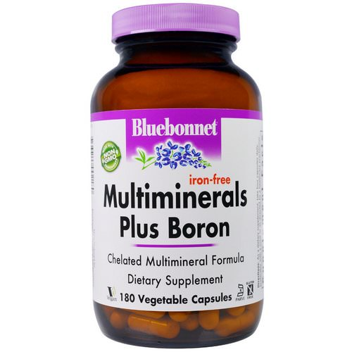 Bluebonnet Nutrition, Multiminerals Plus Boron, Iron-Free, 180 Veggie Caps Review