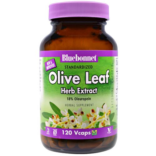 Bluebonnet Nutrition, Olive Leaf, Herb Extract, 120 Veggie Caps Review