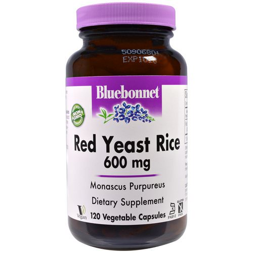 Bluebonnet Nutrition, Red Yeast Rice, 600 mg, 120 Veggie Caps Review