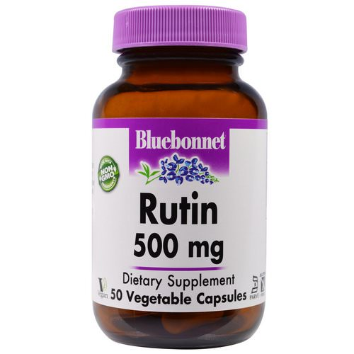 Bluebonnet Nutrition, Rutin, 500 mg, 50 Veggie Caps Review