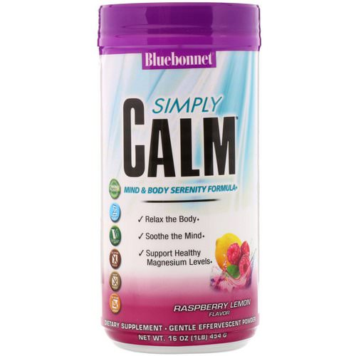 Bluebonnet Nutrition, Simply Calm Powder, Raspberry Lemon Flavor, 16 oz (454 g) Review