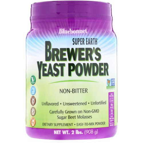 Bluebonnet Nutrition, Super Earth Brewer's Yeast, Unflavored, 2 lb (908 g) Review