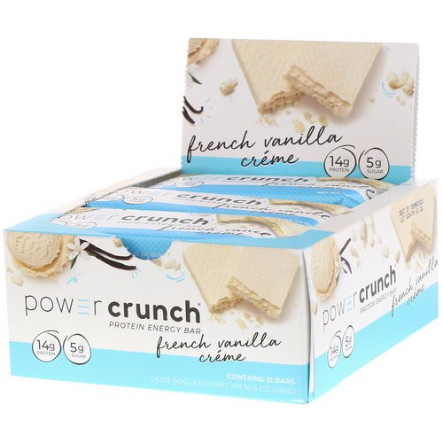BNRG, Power Crunch Protein Energy Bar, French Vanilla Creme, 12 Bars, 1.4 oz (40 g) Each Review