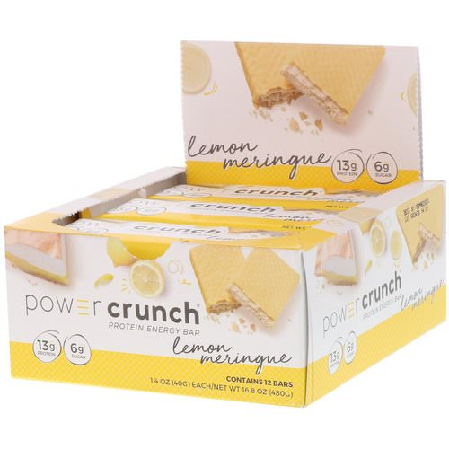 BNRG, Power Crunch Protein Energy Bar, Lemon Meringue, 12 Bars, 1.4 oz (40 g) Each Review