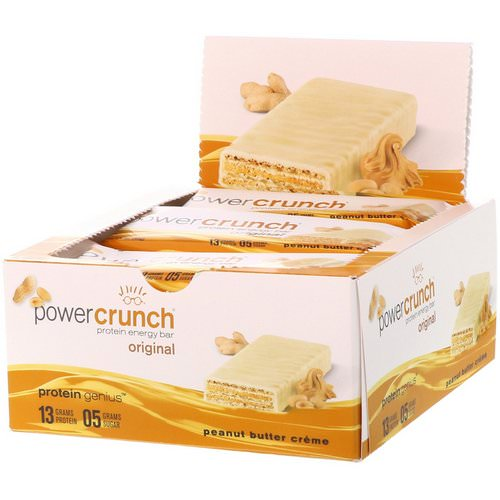 BNRG, Power Crunch Protein Energy Bar, Original, Peanut Butter Creme, 12 Bars, 1.4 oz (40 g) Each Review