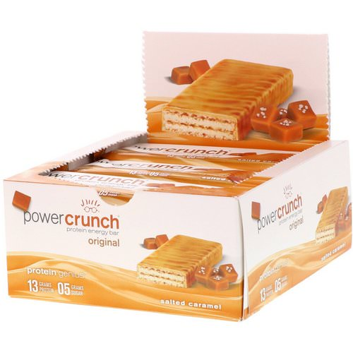 BNRG, Power Crunch Protein Energy Bar, Original, Salted Caramel, 12 Bars, 1.4 oz (40 g) Each Review