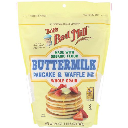 Bob's Red Mill, Buttermilk Pancake & Waffle Mix, Whole Grain, 24 oz (680 g) Review