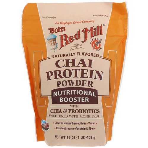 Bob's Red Mill, Chai Protein Powder, Nutritional Booster with Chia & Probiotics, 16 oz (453 g) Review