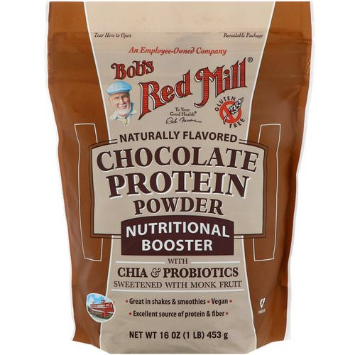 Bob's Red Mill, Chocolate Protein Powder, Nutritional Booster with Chia & Probiotics, 16 oz (453 g) Review