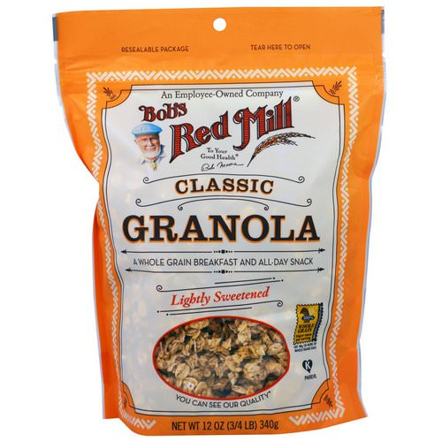 Bob's Red Mill, Classic Granola, Lightly Sweetened, 12 oz (340 g) Review