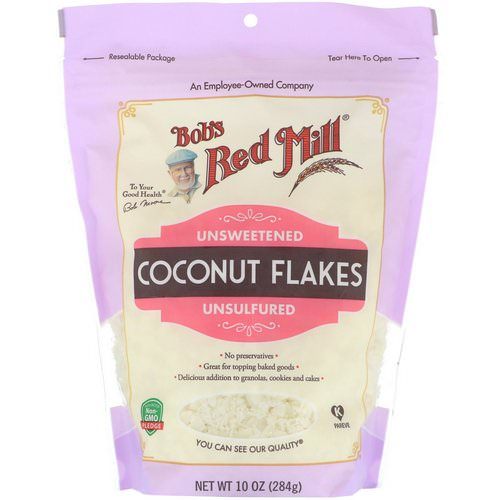 Bob's Red Mill, Coconut Flakes, Unsweetened, Unsulfured, 10 oz (284 g) Review