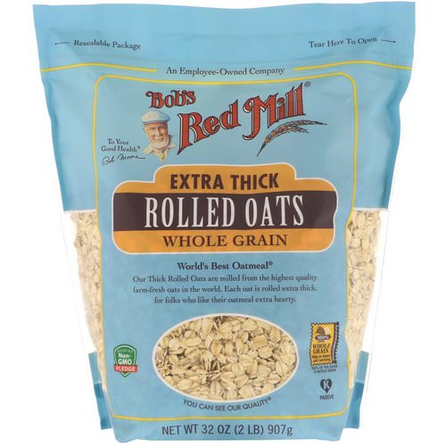 Bob's Red Mill, Extra Thick Rolled Oats, Whole Grain, 32 oz (907 g) Review