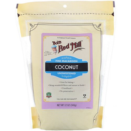 Bob's Red Mill, Fine Macaroon Coconut, Unsweetened, 12 oz (340 g) Review