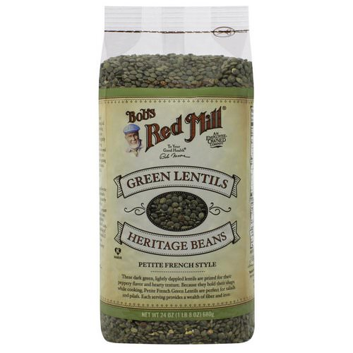 Bob's Red Mill, Green Lentils Heritage Beans, Petite French Style, 1.5 lbs (680 g) Review