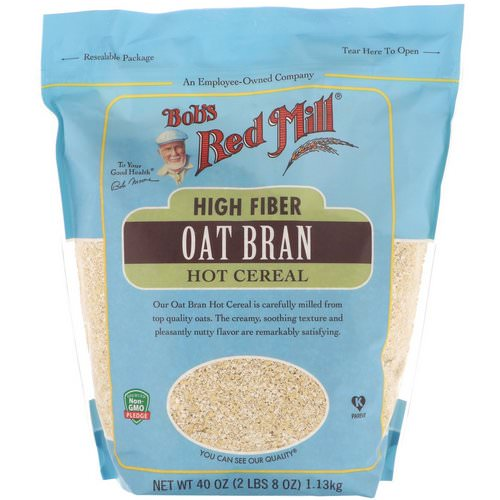 Bob's Red Mill, High Fiber Oat Bran, Hot Cereal, 40 oz (1.13 kg) Review