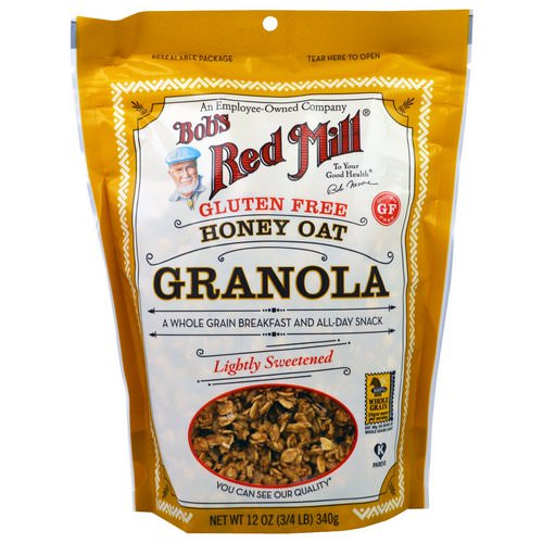 Bob's Red Mill, Honey Oat Granola, Gluten Free, 12 oz (340 g) Review