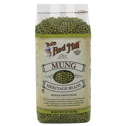 Bob's Red Mill, Mung, Heritage Beans, 1.7 lbs (765 g) Review