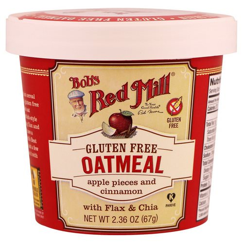 Bob's Red Mill, Oatmeal, Apple Pieces and Cinnamon, 2.36 oz (67 g) Review