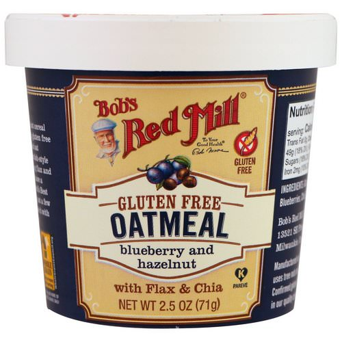 Bob's Red Mill, Oatmeal, Blueberry and Hazelnut, 2.5 oz (71 g) Review
