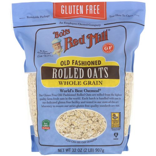 Bob's Red Mill, Old Fashioned Rolled Oats, Whole Grain, Gluten Free, 32 oz (907 g) Review