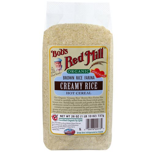 Bob's Red Mill, Organic Brown Rice Farina, Creamy Rice, Hot Cereal, 1.6 lbs (737 g) Review