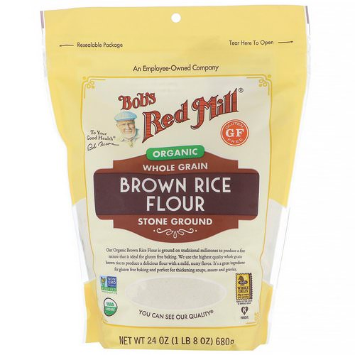 Bob's Red Mill, Organic Brown Rice Flour, Whole Grain, 24 oz (680 g) Review