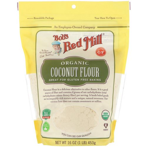 Bob's Red Mill, Organic Coconut Flour, Gluten Free, 16 oz (453 g) Review