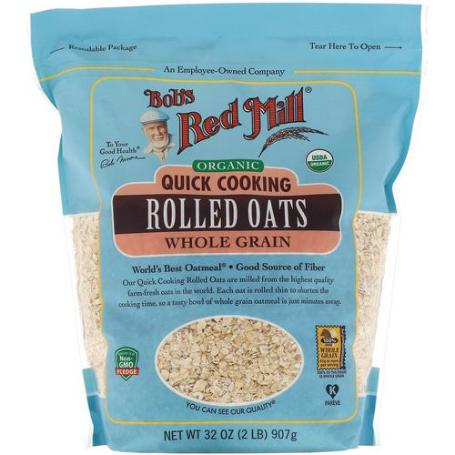 Bob's Red Mill, Organic, Quick Cooking Rolled Oats, Whole Grain, 32 oz (907 g) Review