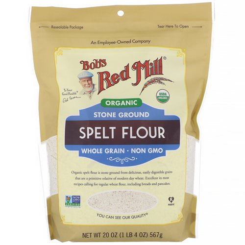 Bob's Red Mill, Organic Spelt Flour, Whole Grain, 20 oz (567 g) Review