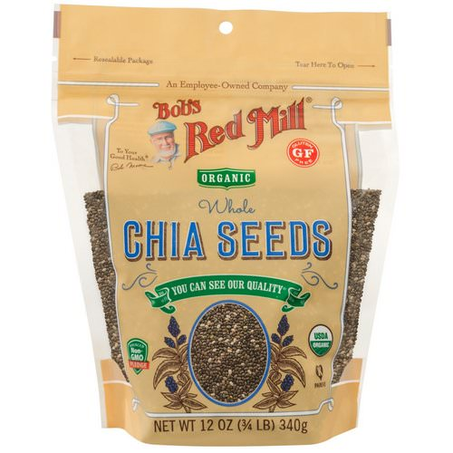 Bob's Red Mill, Organic Whole Chia Seeds, 12 oz (340 g) Review