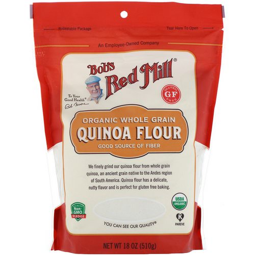 Bob's Red Mill, Organic, Whole Grain Quinoa Flour, 18 oz (510 g) Review