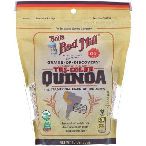 Bob's Red Mill, Organic, Whole Grain Tri-Color Quinoa, 13 oz (369 g) Review