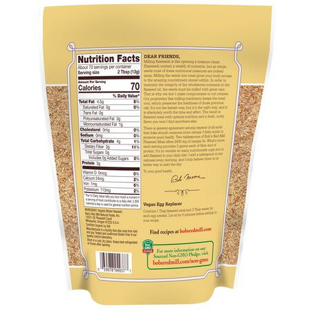 Bob S Red Mill Organic Whole Ground Flaxseed Meal