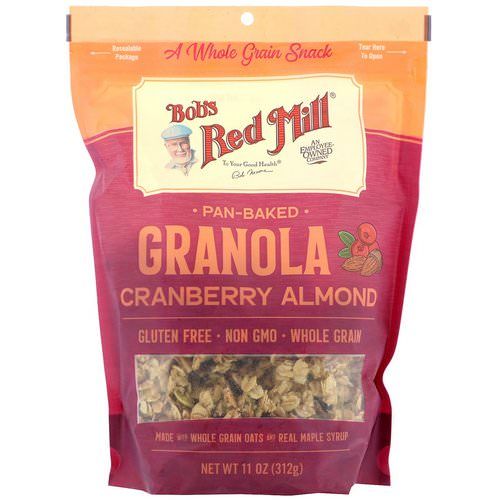 Bob's Red Mill, Pan-Baked Granola, Cranberry Almond, 11 oz (312 g) Review