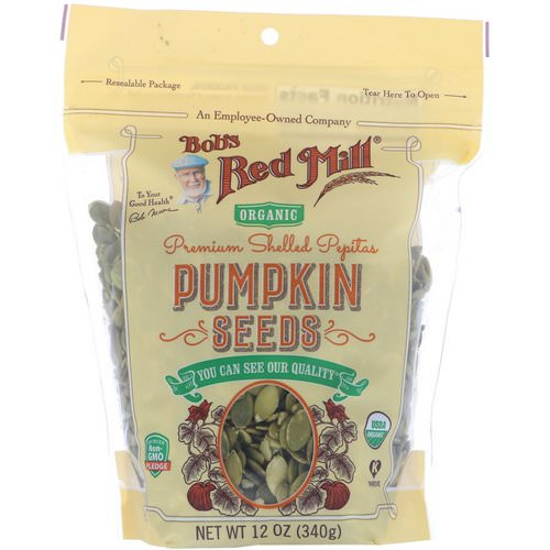 Bob's Red Mill, Premium Shelled Pepitas, Pumpkin Seeds, 12 oz (340 g) Review