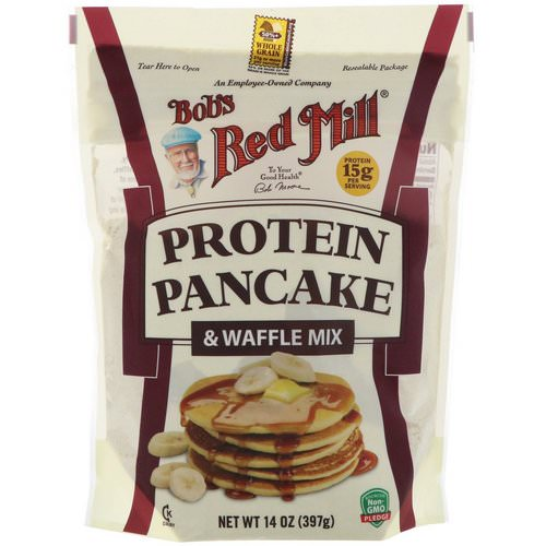 Bob's Red Mill, Protein Pancake & Waffle Mix, 14 oz (397 g) Review