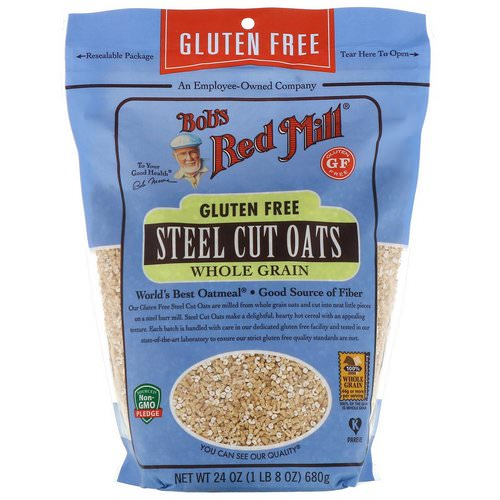 Bob's Red Mill, Steel Cut Oats, Whole Grain, Gluten Free, 24 oz (680 g) Review