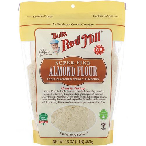 Bob's Red Mill, Super-Fine Almond Flour, Gluten Free, 16 oz (453 g) Review