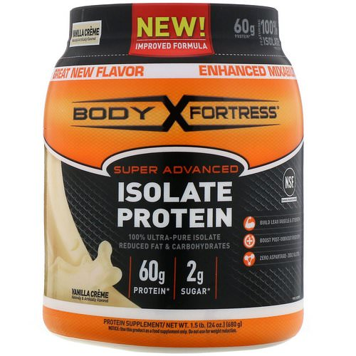Body Fortress, Super Advanced Isolate Protein, Vanilla Creme, 1.5 lb (680 g) Review