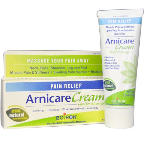 Boiron, Arnicare Cream, Pain Relief, Unscented, 2.5 oz (70 g) Review