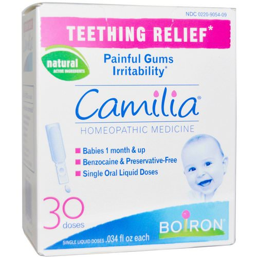 Boiron, Camilia, Teething Relief, 30 Single Liquid Doses, .034 fl oz Each Review