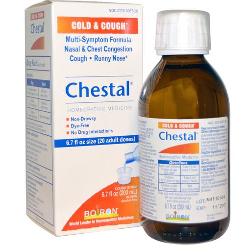 Boiron, Chestal, Cold & Cough, 6.7 fl oz (200 ml) Review