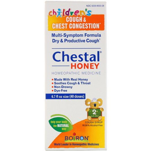 Boiron, Chestal Honey, Children's Cough & Chest Congestion, 6.7 fl oz Review