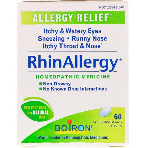 Boiron, RhinAllergy, 60 Quick-Dissolving Tablets Review