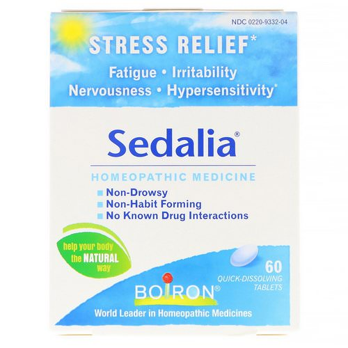 Boiron, Sedalia, Stress Relief, 60 Quick-Dissolving Tablets Review